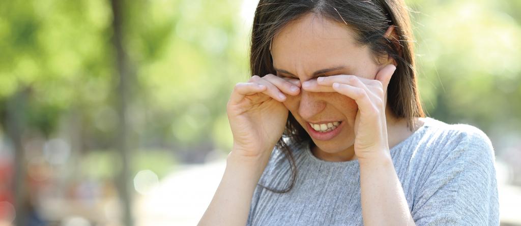 Alergia primaveral en los ojos